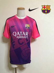 NIKE FC BARCELONA バルセロナ プラクティス シャツ トップス トレーニング ウェア サイズXL 180/96A 半袖 643552-640 ピンク パープル