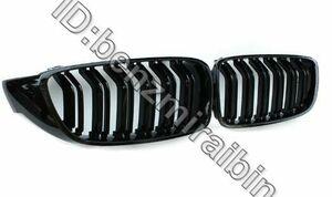 艶ブラック ダブルフィン F32 グリル F33 F36 F80 M3 F82 M3 F83 M4 ABS フロント バンパー レース Bmw 4 シリーズ 428i 440i 435i 2014 +