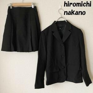 【人気】hiromichi nakano/ヒロミチナカノ h.n.c. 卒業式 セットアップ ブラックxチェック柄 サイズ150/3107