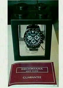 限定品 BROOK I ANA NEW YORK 腕時計 スカルドクロ 骸骨 ガイコツ ロエン ニューヨーク メンズ ウォッチ ブラック クオーツ クロノグラフ