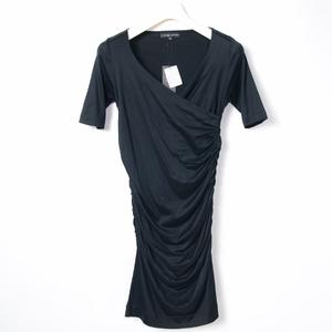 シトラスノーツ/ cITRUS nOTES 新品 カシュクール ワンピース 38 黒
