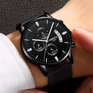 今だけ激安!【f0001】NIBOSI メンズ 腕時計 クロノグラフ スポーツ トップブランドの高級防水 フルスチール クォーツ 時計 男性 レロジオ