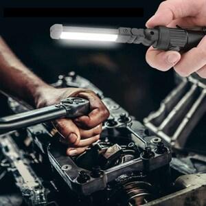 フレキシブル&コンパクト 高輝度LEDライト USB充電式 防水 折り畳み式 クリップ付 新概念の万能品 他店に無いレア商品 未使用