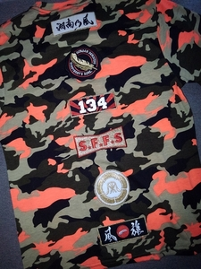 2014 Shonano-style camouflage camouflage Wappen T-shirt M summer festival limited super rare 134 S.F.F.S-style journey Savage surfing reggae HIPHOP
