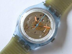 未使用 91年初代オートマチック ブルーマチック スウォッチ Swatch BLUE MATIC 品番SAN100