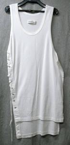 ワイズ フォーメン*脇ヒモ ロング丈 タンクトップ (袖無しTシャツ Yohji Yamamoto Tee shirt ヨウジヤマモト