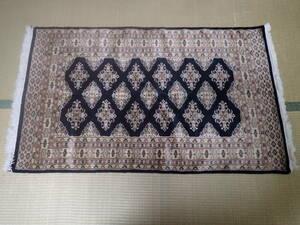新品 即決 パキスタン 高品質 シルク & ウール 手織り 絨毯 162×93 検索 カーペット ラグ マット 工芸品 美術品 ペルシャ絨毯 段通