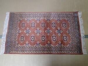 新品 即決 パキスタン 高品質 シルク & ウール 手織り 絨毯 136×73.5 検索 カーペット ラグ マット 工芸品 美術品 ペルシャ絨毯 段通