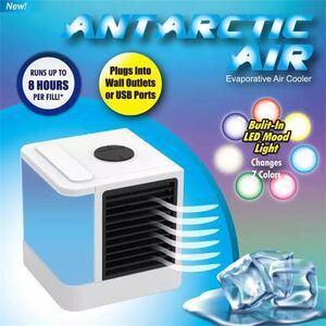 ミニポータブル空気加湿器清浄機Usb 空気冷却器 7 色ライトデスクトップ空気冷却クーラーファンのホームオフィス卓上 冷風機 ミニエアコン