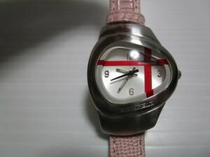 激レア!電池交換済み!超特価!即決!Lambretta ランブレッタ レディス 腕時計 シルバー ステンレスケース リューズに難アリ 状態考慮