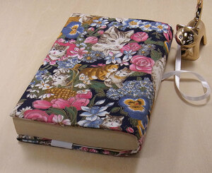 41 B hand made hand ... library book@② book cover Japanese style rose mystery cat .. cat cat cat present present