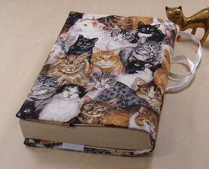 37 B hand made hand ... library book@② book cover ... considering .. cat cat .. cat cat cat present