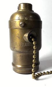 1900's【HUBBELL】アンティークソケット/ソケットクラスター/ビンテージ/o.c.white/店舗什器/照明/ベンジャミン/FARIES/シェード/真鍮/電灯