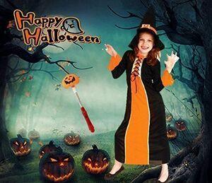 ハロウィン 女の子 衣装 可愛い 魔法使い 魔女 ロング 子供 キッズ コスプレ コスチューム ロングドレス M 新品