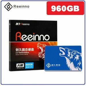 ★新品!!最安値★Reeinno SSD SATA3 / 6.0Gbps 2.5インチ 960GB 3D 高速 NAND TLC 内蔵型 デスクトップ ノートパソコン DE043