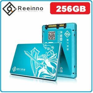 ★新品!!最安値★Reeinno SSD 256GB SATA3 / 6.0Gbps 2.5インチ 3D 高速 NAND TLC 内蔵型 デスクトップ ノートパソコン DE036