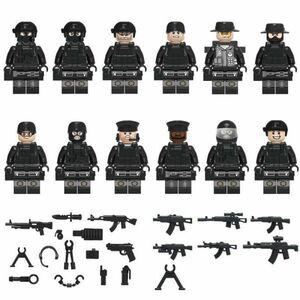 MOC LEGO レゴ 互換 SWAT 特殊部隊 カスタム ミニフィグ 12体セット 武器・装備・兵器付き D179