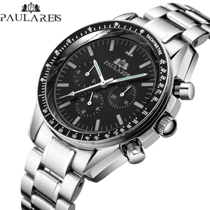 【日本未発売品】最落なし【PAULAREIS】2019最新モデル 腕時計 Stainless Steel Black 自動巻き ROLEXオマージュ