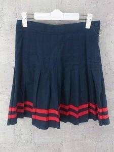 ◇ BEAMS BOY ビームスボーイ ミニ プリーツ スカート 0 ネイビー * ◆ 1002796530227