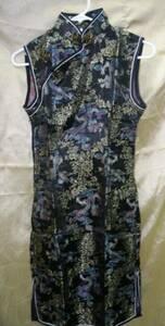 ◆チャイナドレス◆サイズ 9号(34)(黒)◆