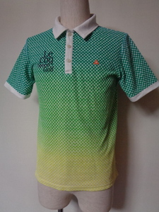 le coq sportif ルコック スポルティフ GOLF COLLECTION ゴルフ 半袖 グラデーション チェック ポロシャツ sizeM