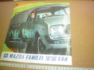 珍品☆彡希少♪中古(水濡れ変形有)1968年1月発行・マツダMAZDAファミリア1000バンカタログ・パンフレット旧車レトロカー当時物