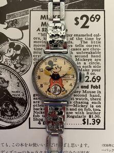 INGERSOLL 1933 ミッキーマウス ファースト ウォッチ オリジナル