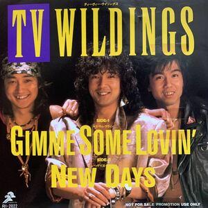 【EP】【7インチレコード】89年 激レア 貴重 非売品 プロモオンリー TV-WILDING / GIMME SOME LOVIN' / NEW DAYS CD移行期の入手困難盤