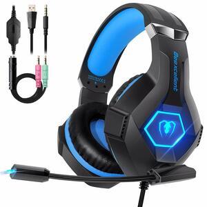 ゲーミングヘッドセット ゲーミングヘッドホン LED付き 高音質 軽量 ヘッドセット FPS PS4 スマホ
