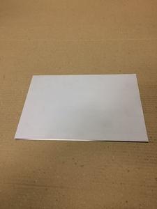ステンレス板 SUS304 400番片側研磨 288㎜×200㎜ 約28cm×20cm 厚み1㎜ 2B材 2枚 送料レターパック370円