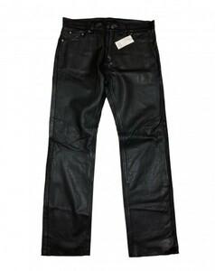 未使用品 タグ付き Liugoo Leathers リューグーレザーズ レザーパンツ 牛革 ブラック 黒 サイズ38 メンズ