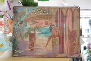 ★ハワイ直輸入★スチール看板 Where it's Summer/セクシーロコガール/Come to HAWAII/ハワイアン雑貨/壁掛け/インテリア