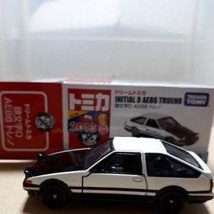 トミカ 未展示品 ドリームトミカ イニシャルD AE86 トレノ 頭文字D AE86 トレノ 初回(エラー刻印) 新品