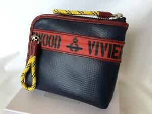 ヴィヴィアンウエストウッドVivienne Westwood ・ファスナ・ラウンド折り財布・新品・正規品VWK380