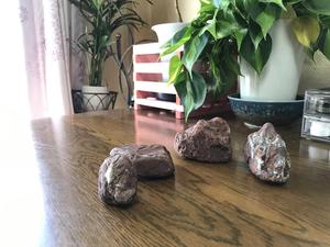 鑑賞石 水石 盆石 オブジェ ハンドメイド素材など 鉄石英 チャート 赤玉石 0920b