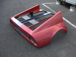 ■フェラーリ 512BBi 純正 リアカウル 中古 Ferrari rear engine hood cofano post 60819800■