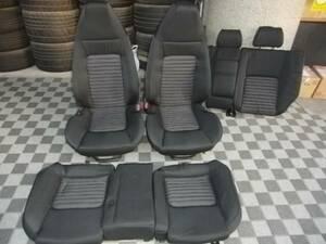 ■アルファロメオ 147 GTA シート 1台分 中古 右ハンドル 937AXL 部品取りあり バックル キャッチ ベルト ■
