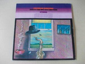 P4284 即決 LPレコード コールマン・ホーキンス COLEMAN HAWKINS『MEETS THE BIG SAX SECTION』 輸入盤 西ドイツ盤?