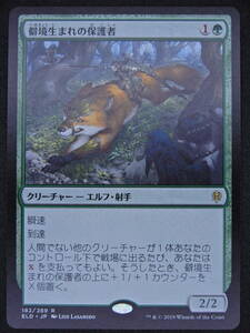 MTG ELD(エルドレインの王権)僻境生まれの保護者/Wildborn Preserver(日本語版・数量4枚)