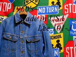 ★1960年代後半から1970年代前半の1着★Made in USA製アメリカ製Lee101-Jビンテージデニムジャケットジージャン60s70s60年代70年代RMR表記