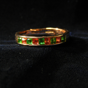 Rhinestone Ruby & Emerald Ring Semicles Carefully Selected Quality Gold Plated Starance Recommended New Delivery Limited Free Sale Free Size
