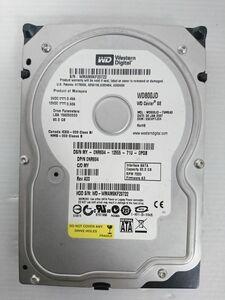 ジャンク品★WESTERN DIGITAL ハードディスク HDD WD800JD/80GB /7200 rpm/SATA300 /3.5インチ ★