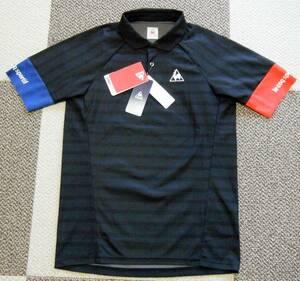ルコック lecoqsportif テニス用高機能高性能ゲームシャツ・ポロシャツ 黒色 サイズ M 吸汗速乾/ストレッチ/UV機能