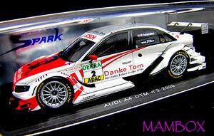 【フリマ】SP☆1/43 S2514 アウディ A4 DTM 2009 「Danke Tom」ラストレーシング