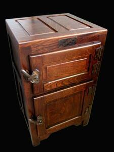 木製 氷の冷蔵庫 レトロ 山本工場製 レストア アンティーク 家具