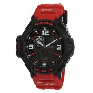 新品 即納 カシオ 時計 メンズ 腕時計 スカイコックピット アナデジ 多機能 ブラック レッド GA-1000-4B