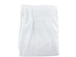 A2488■訳あり レースカーテン 遮像 UVカット 1枚 幅200x133cm サークル柄 ホワイト