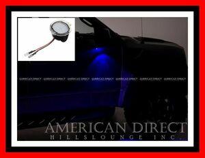【ブルー/LED】11-16y エクスプローラー ナビゲーター MKX エクスペディション エッジ F-150 フレックス アプローチランプ ドアミラー 1個