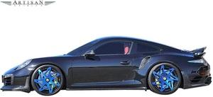 【M's】ポルシェ 911 991 TURBO/TURBO-S (前期) ARTISAN SPIRITS サイドスポイラー 左右//FRP エアロ アーティシャンスピリッツ