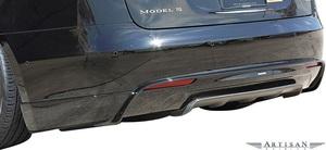 【M's】テスラ モデルS (85D) ARTISAN SPIRITS リアハーフスポイラー/一部カーボン+FRP エアロ アーティシャンスピリッツ TESRA Model S